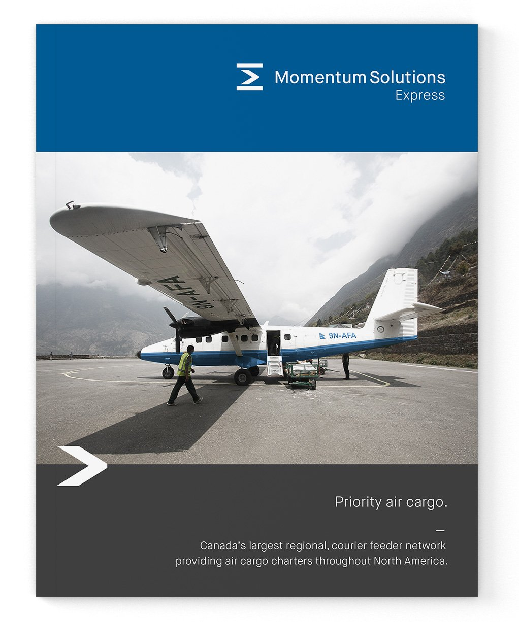 Express air cargo branding booklet design