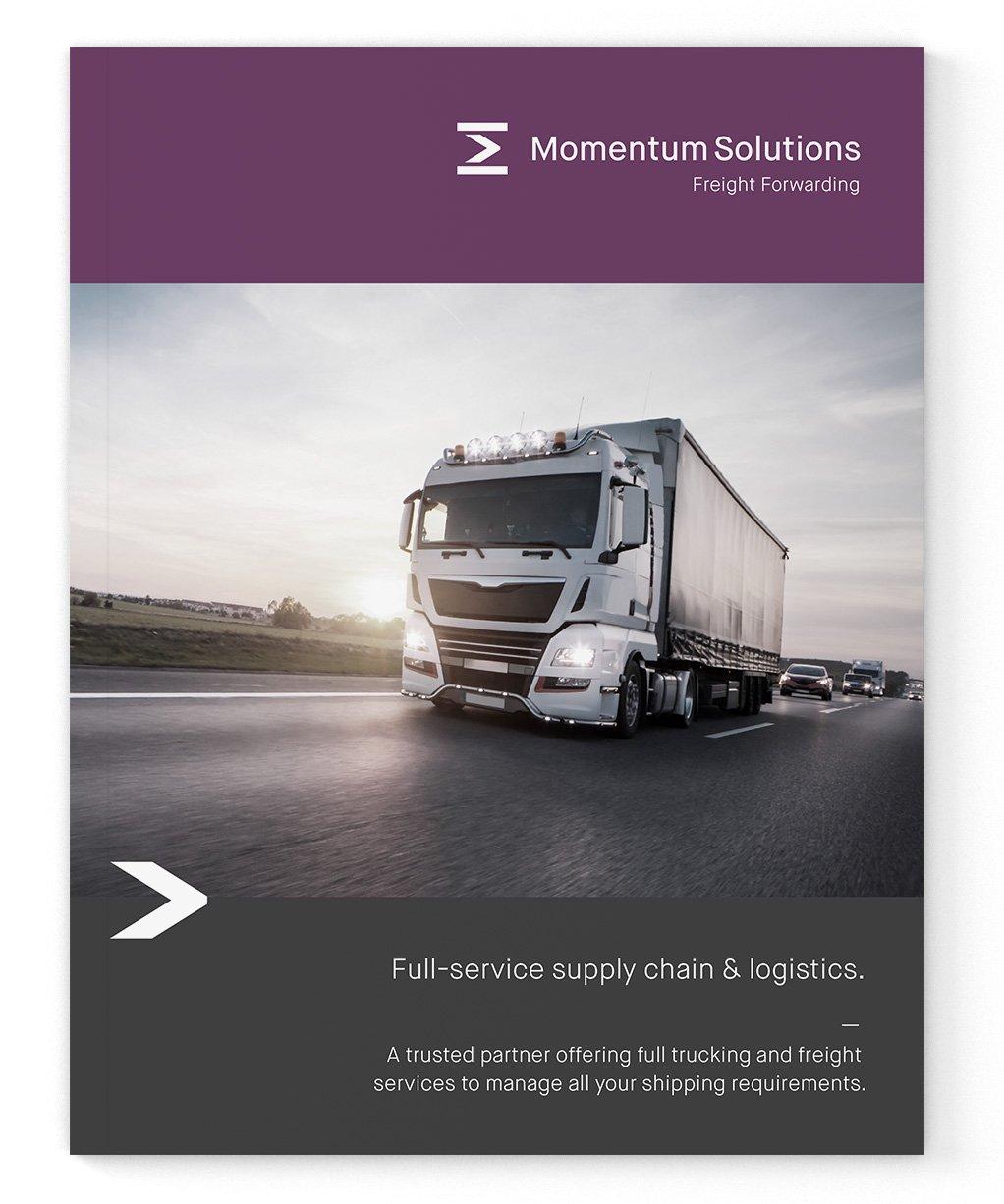 Freight forwarding branding booklet design