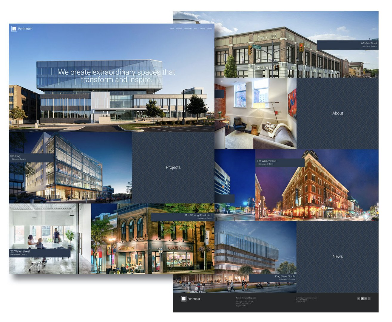 Perimeter Developments website design