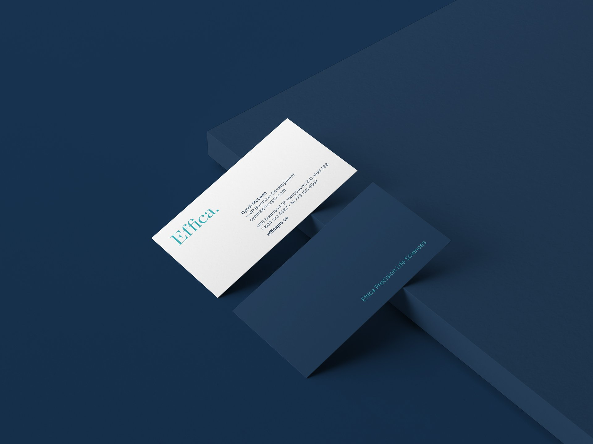 Effica business card design