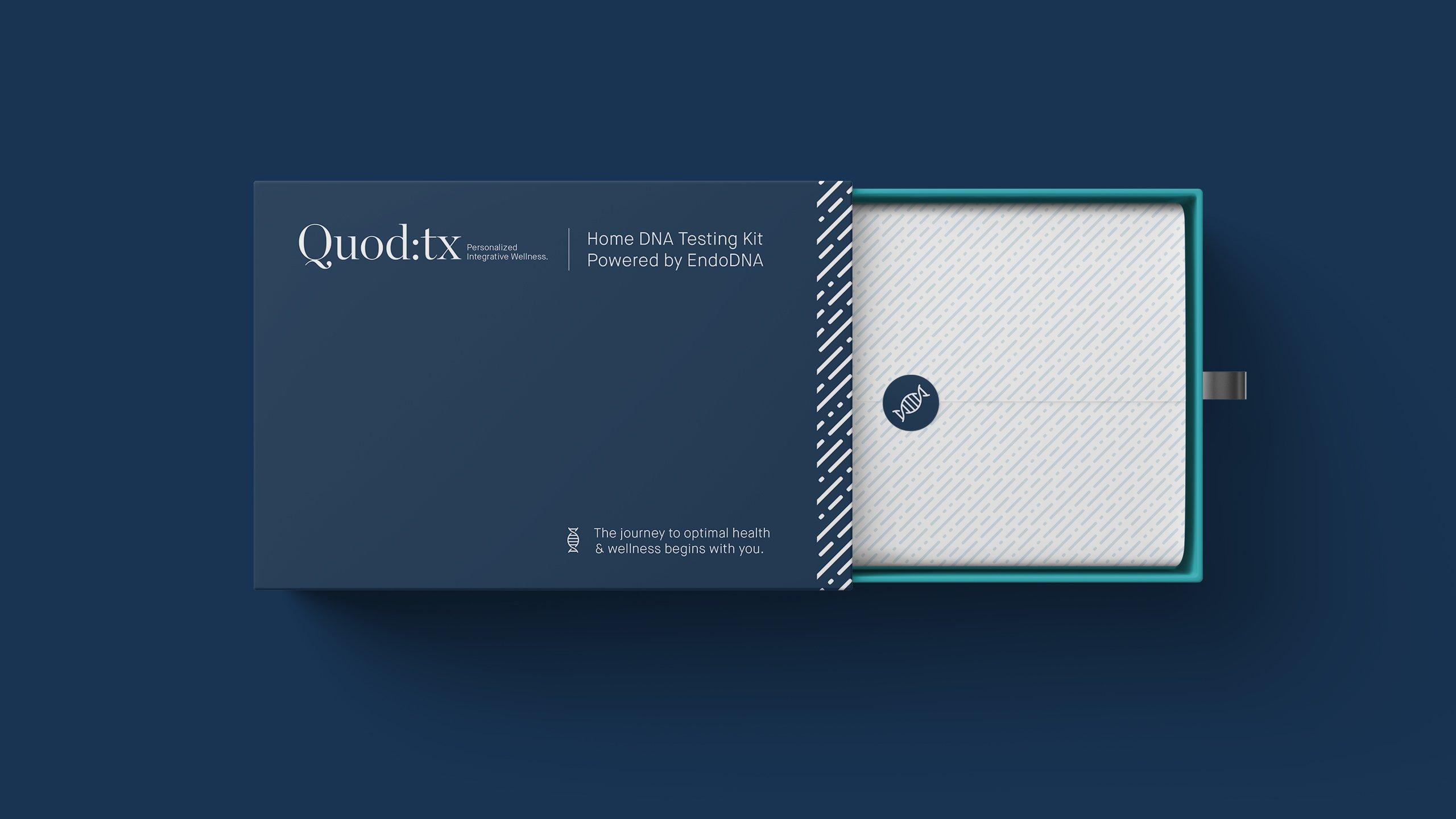 DNA kit package design  health and wellness branding