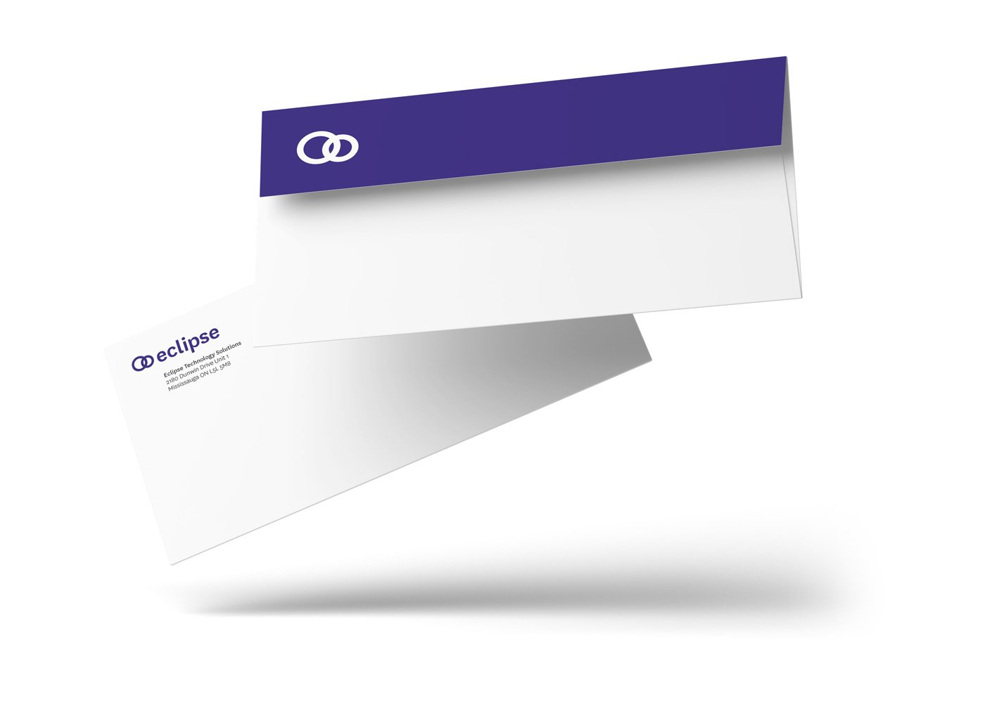 Technology solutions company stationery design envelope