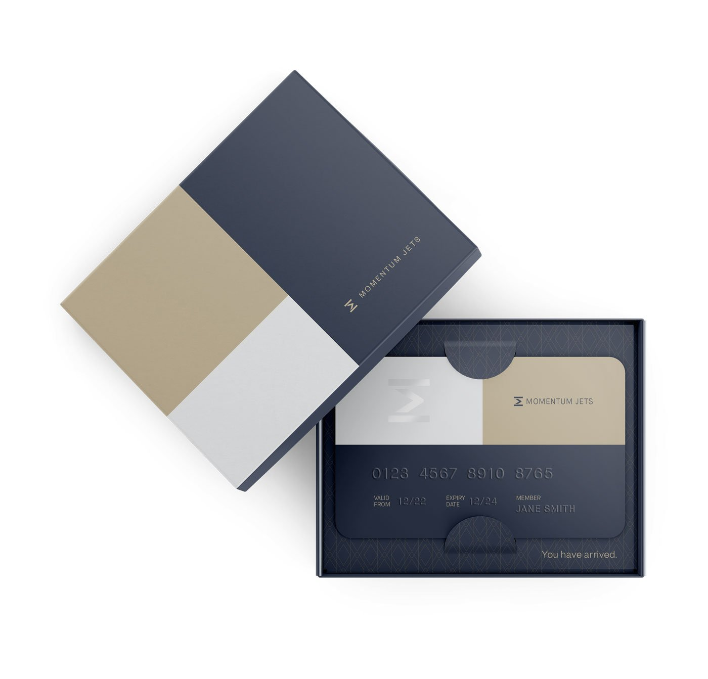 Private jet, luxury and executive travel brand membership card design