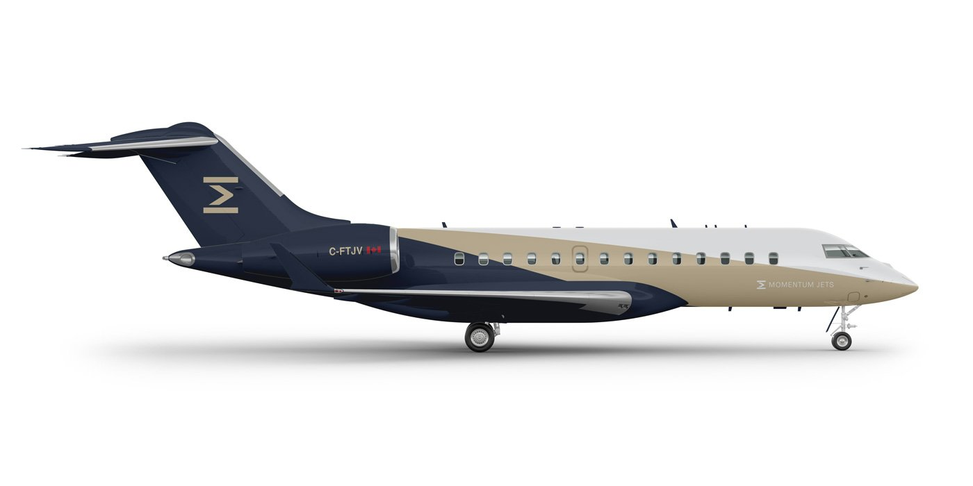 Private jet, luxury and executive travel brand livery design