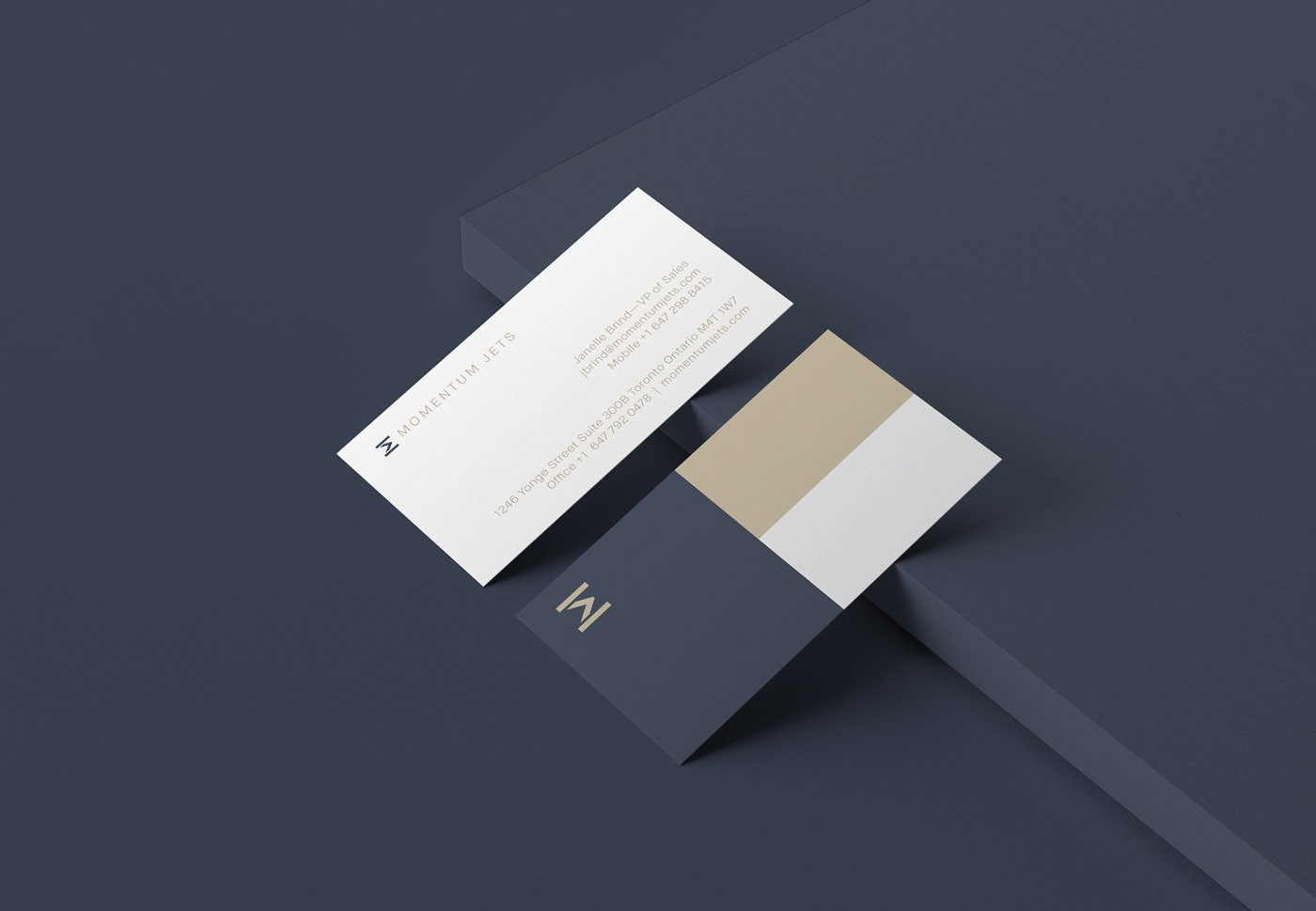 Private jet company branding stationery design business card