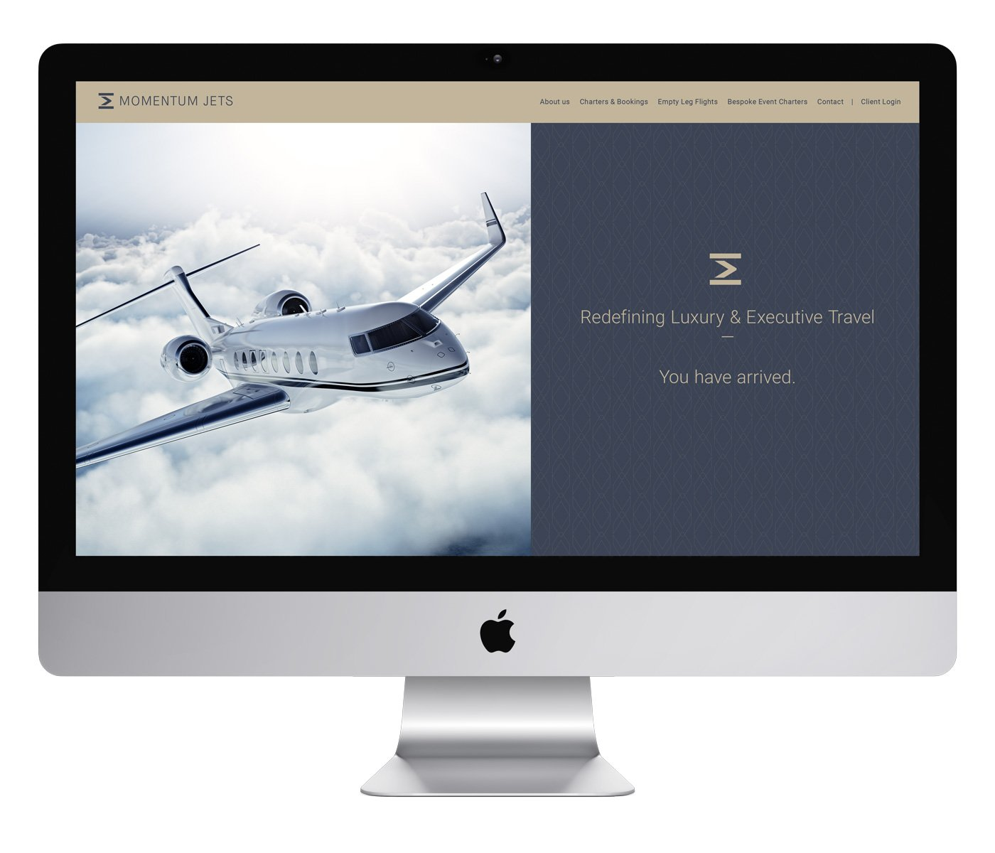 Private jet, luxury and executive travel brand website