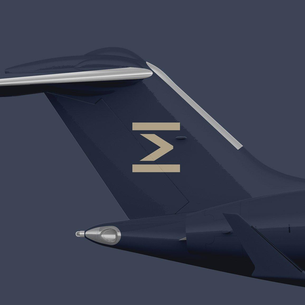 Private jet company brand aircraft design