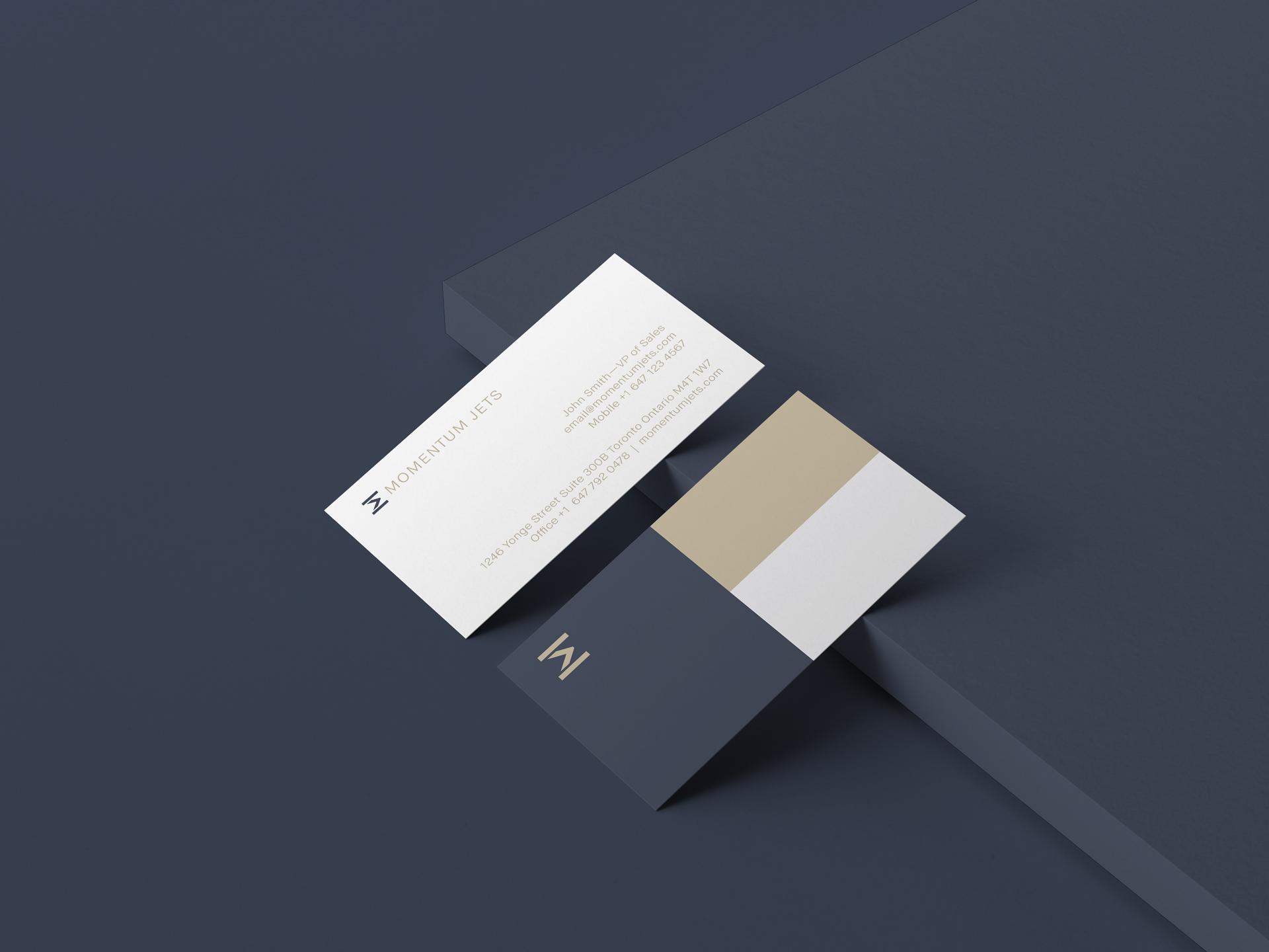 Momentum Jets business card design