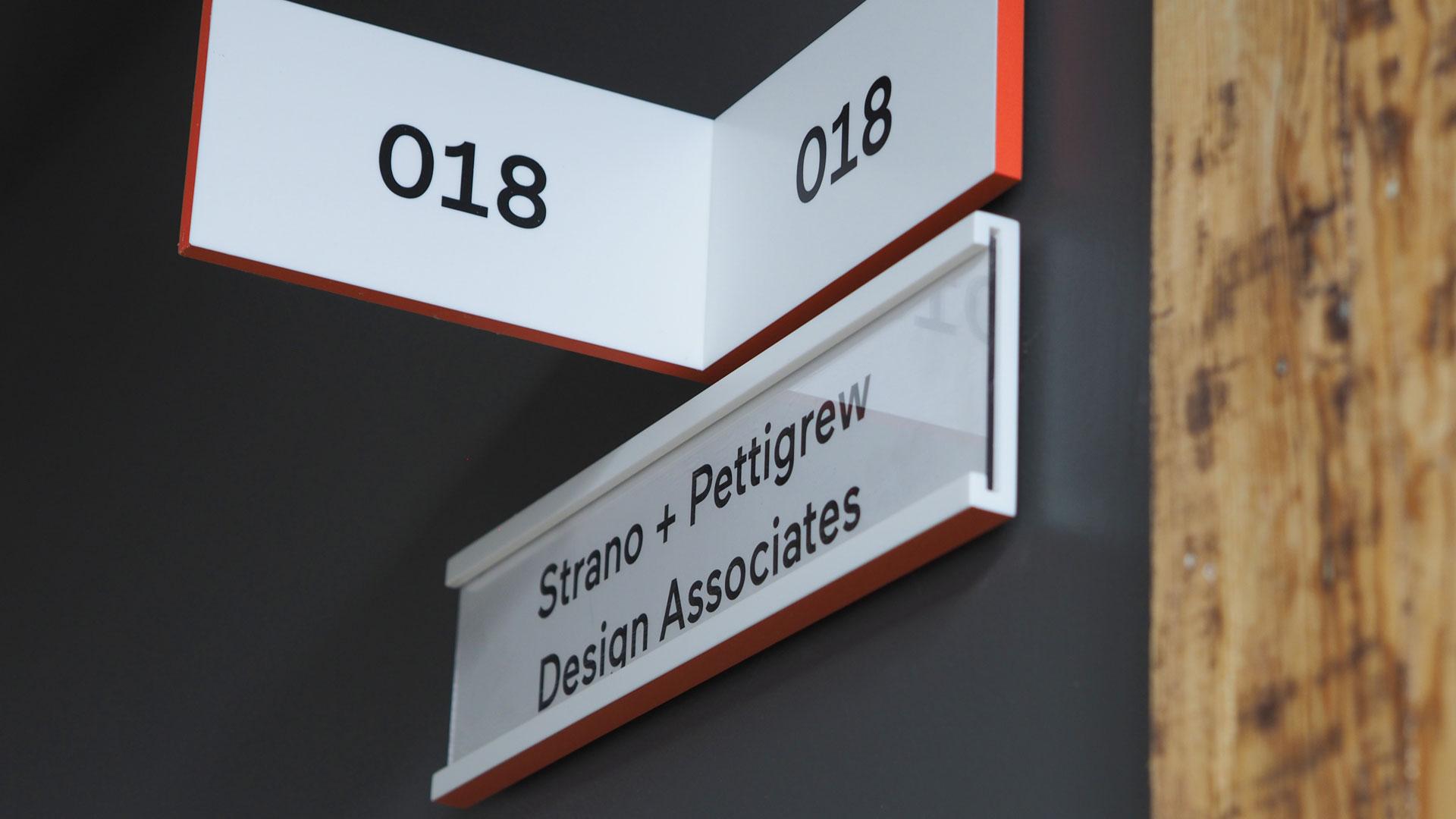 Strano and Pettigrew Office Sign
