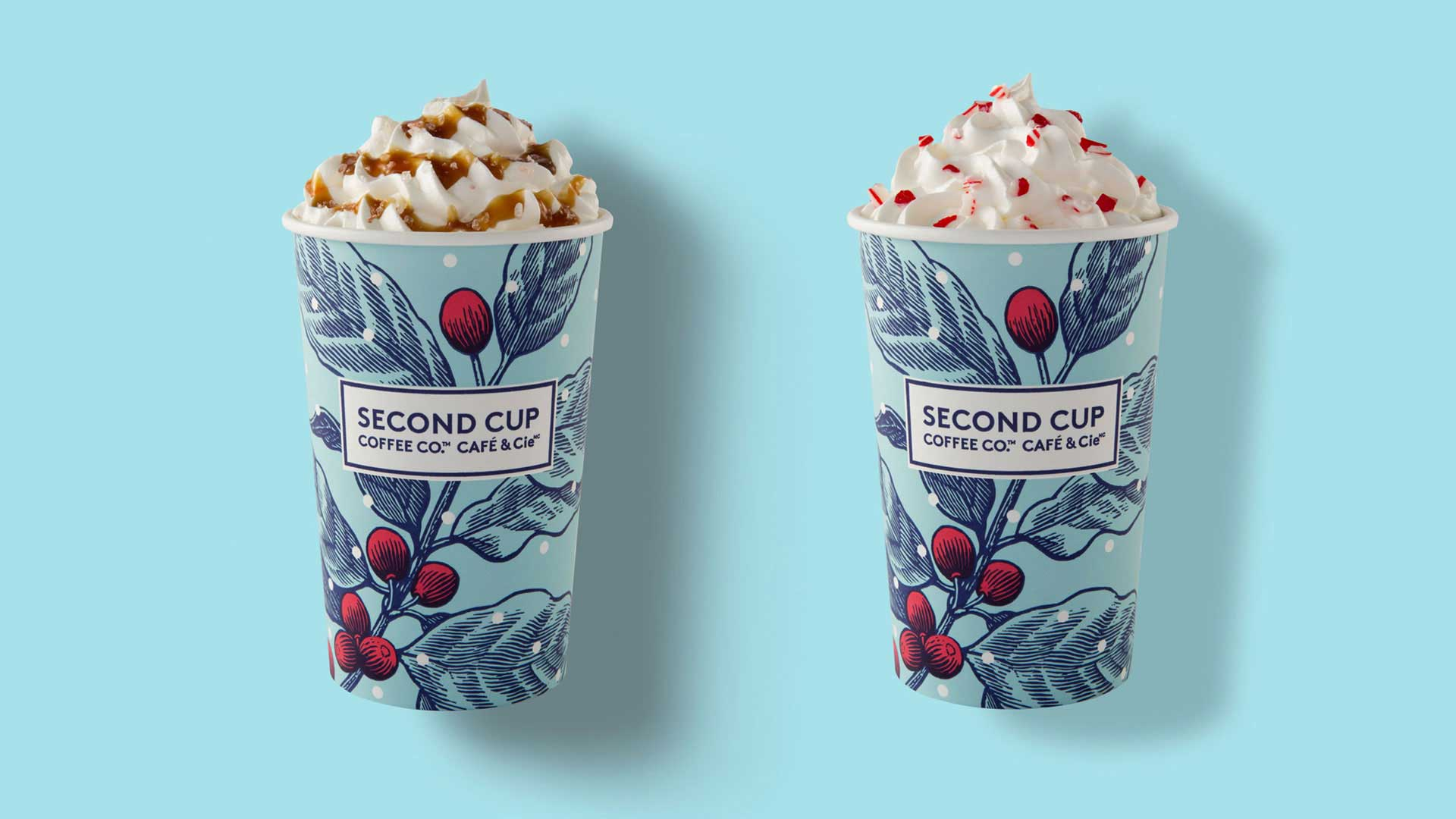 second cup holiday coffee cup design