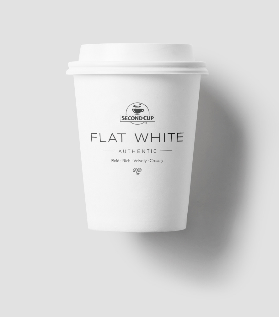 Flat White coffee cup design