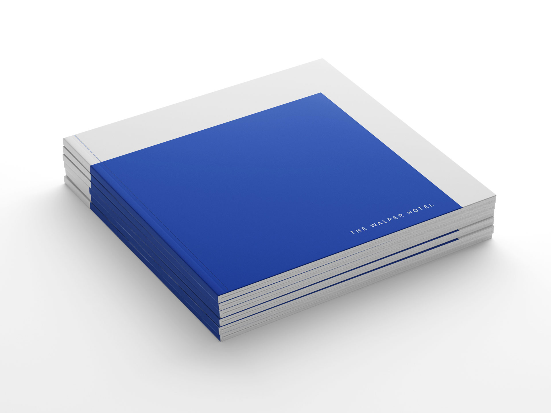 Stack of Walper Hotel books with blue cover