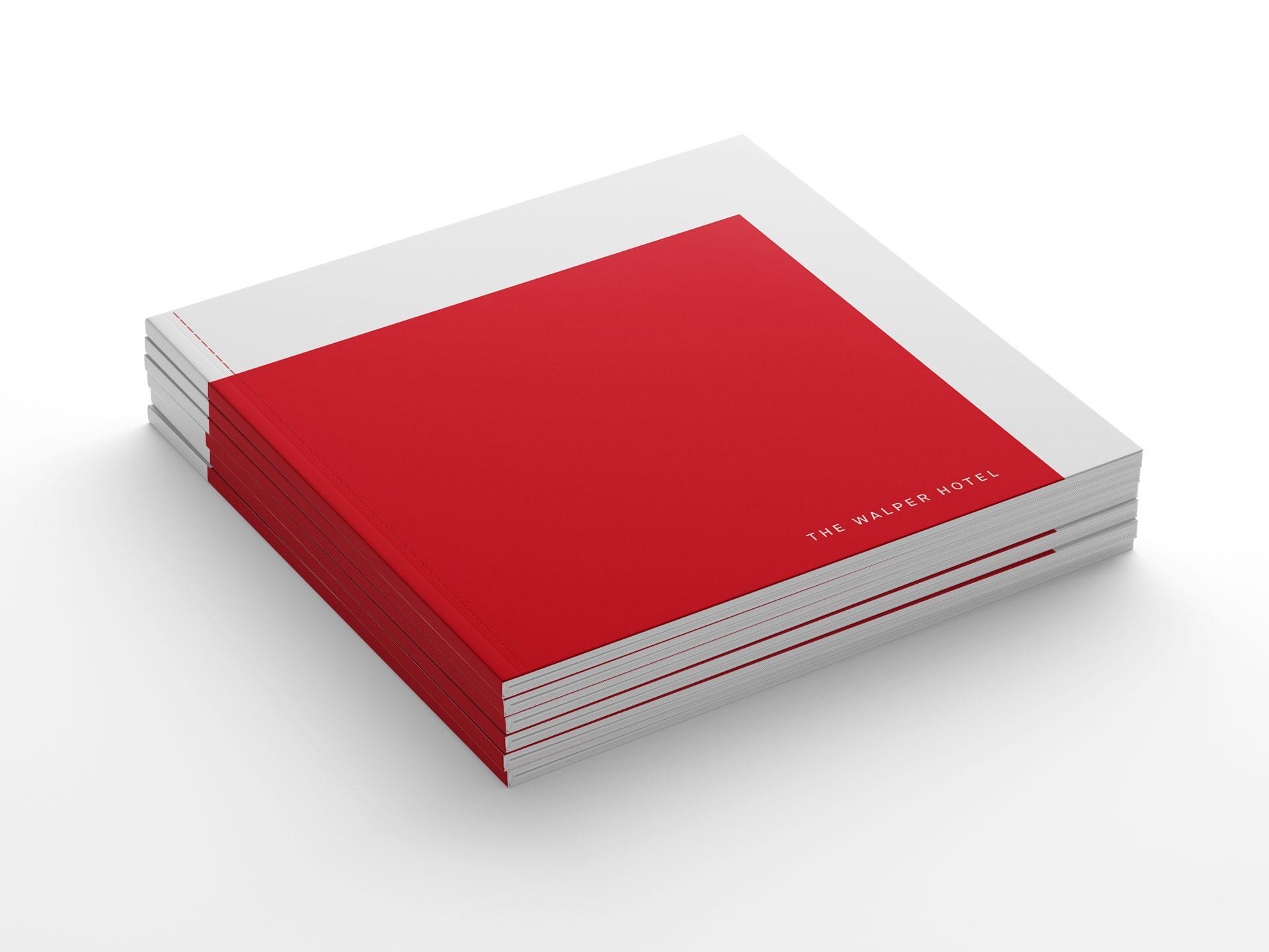 Walper Hotel boStack of Walper Hotel books with red coverok cover in red