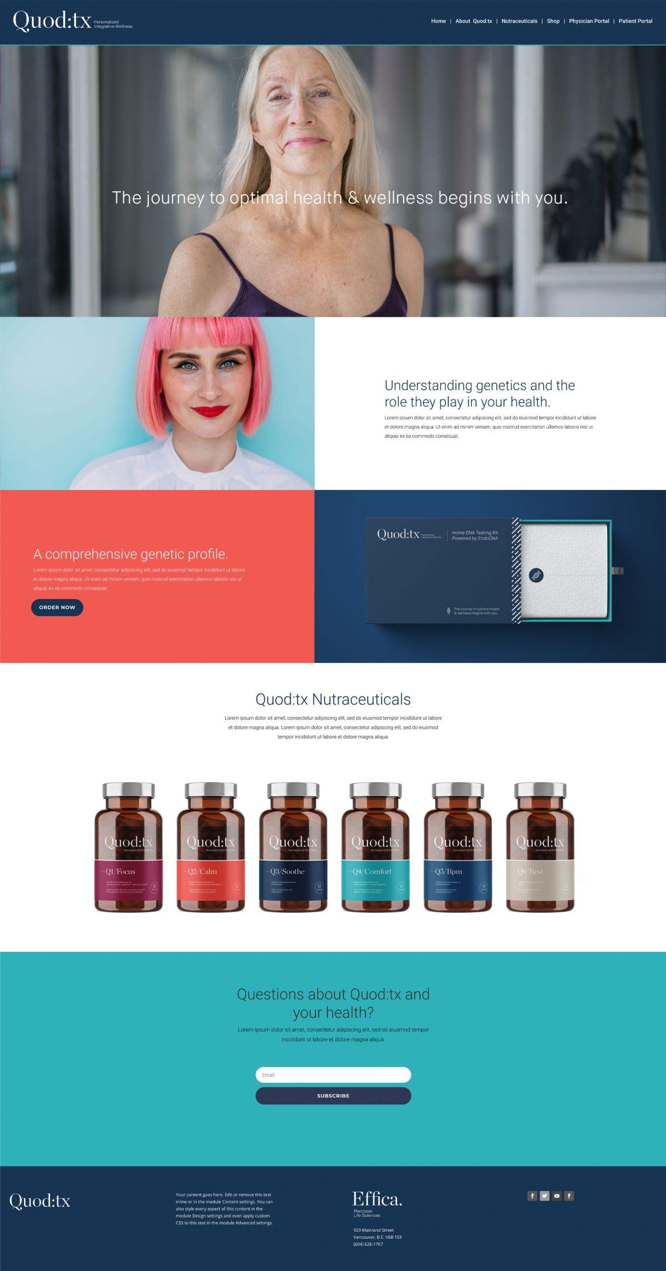 Effica website homepage design