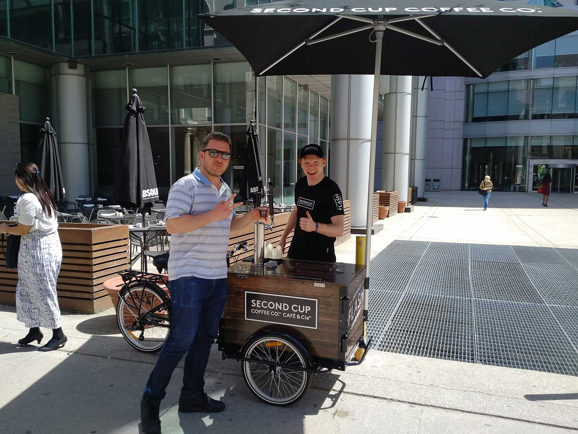 Flash Cold Brew experiential street team sampling flash cold brew