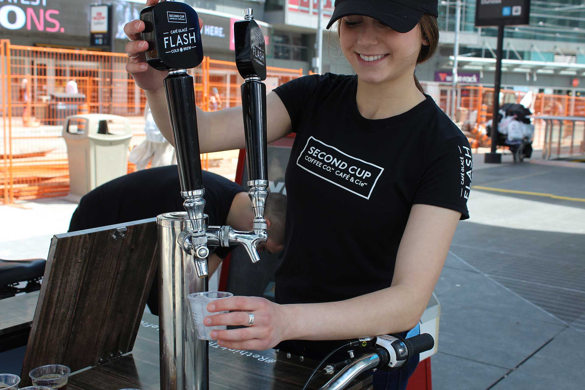 Flash Cold Brew experiential street team