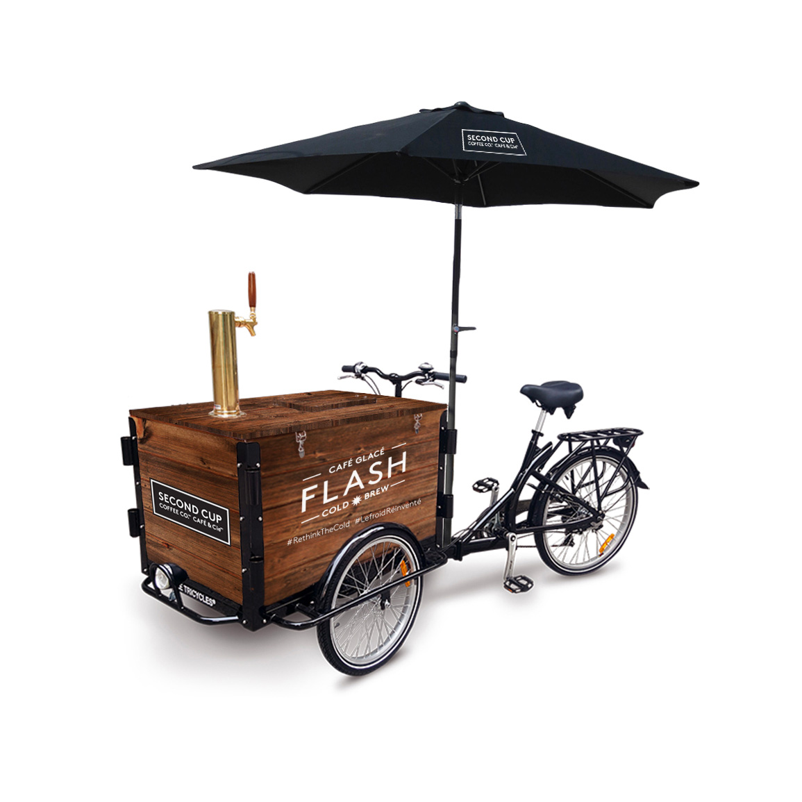 Flash Cold Brew experiential campaign sampling tricycle