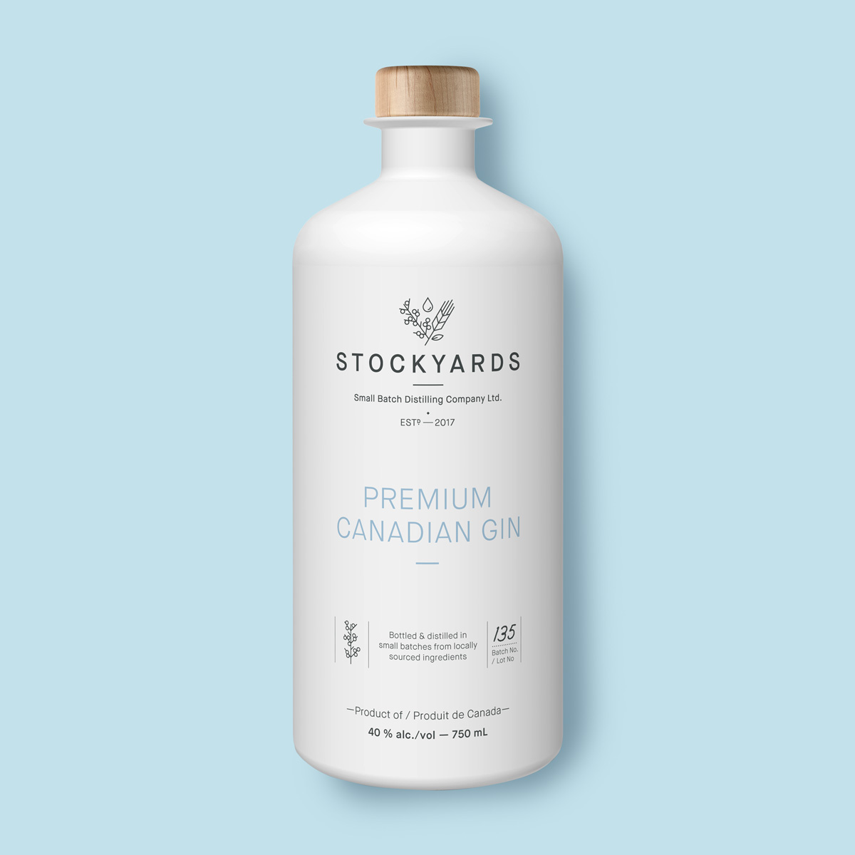 Stockyards gin package design front