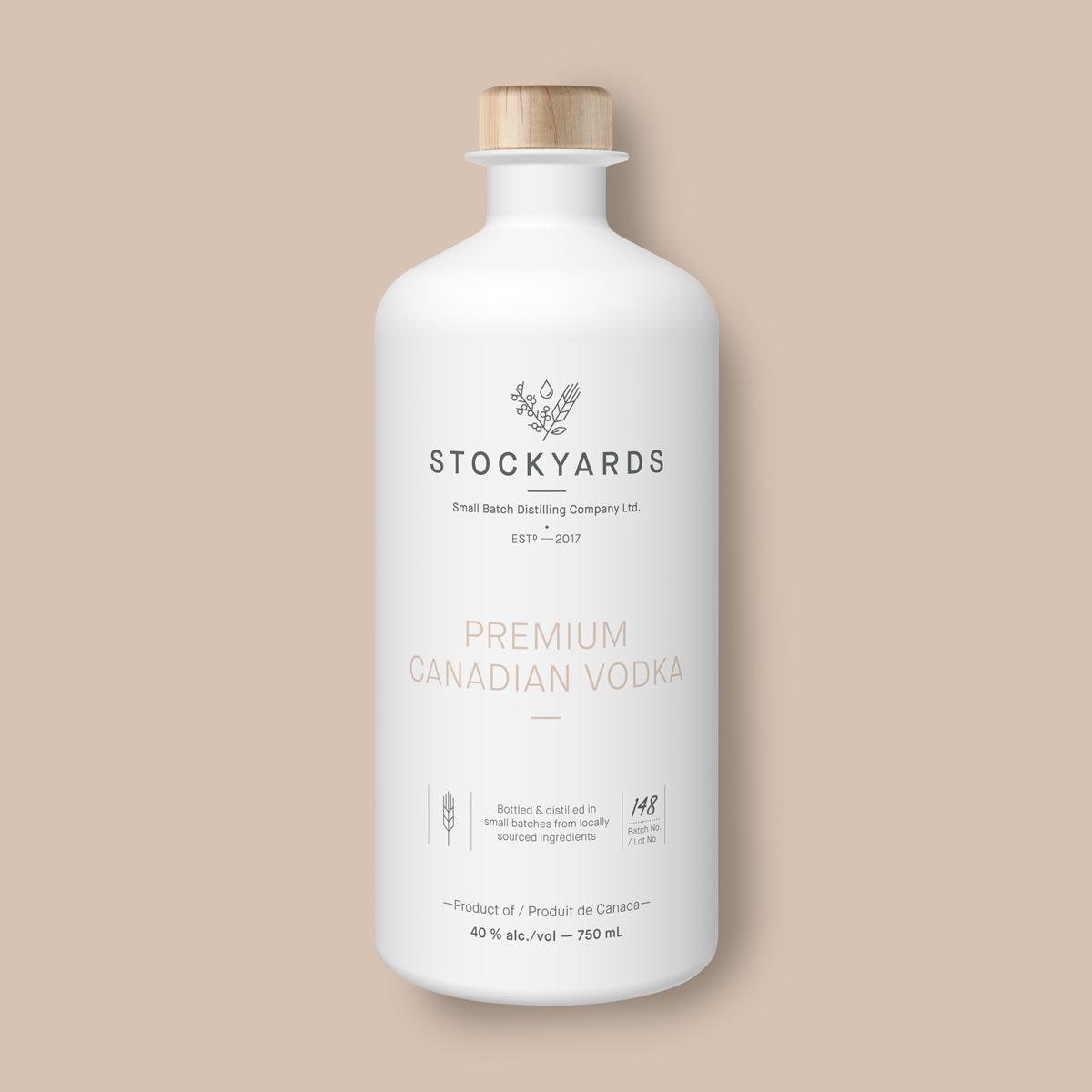 Stockyards vodka package design front