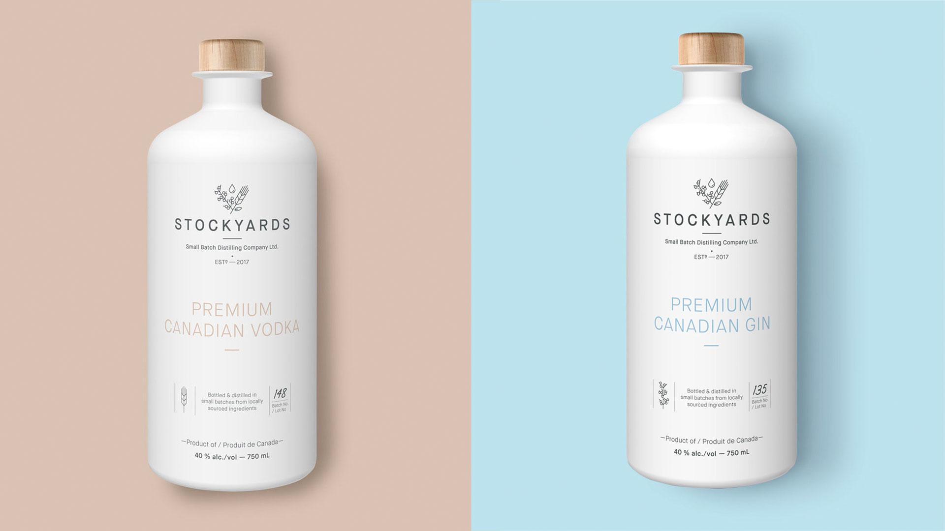stockyards gin package design