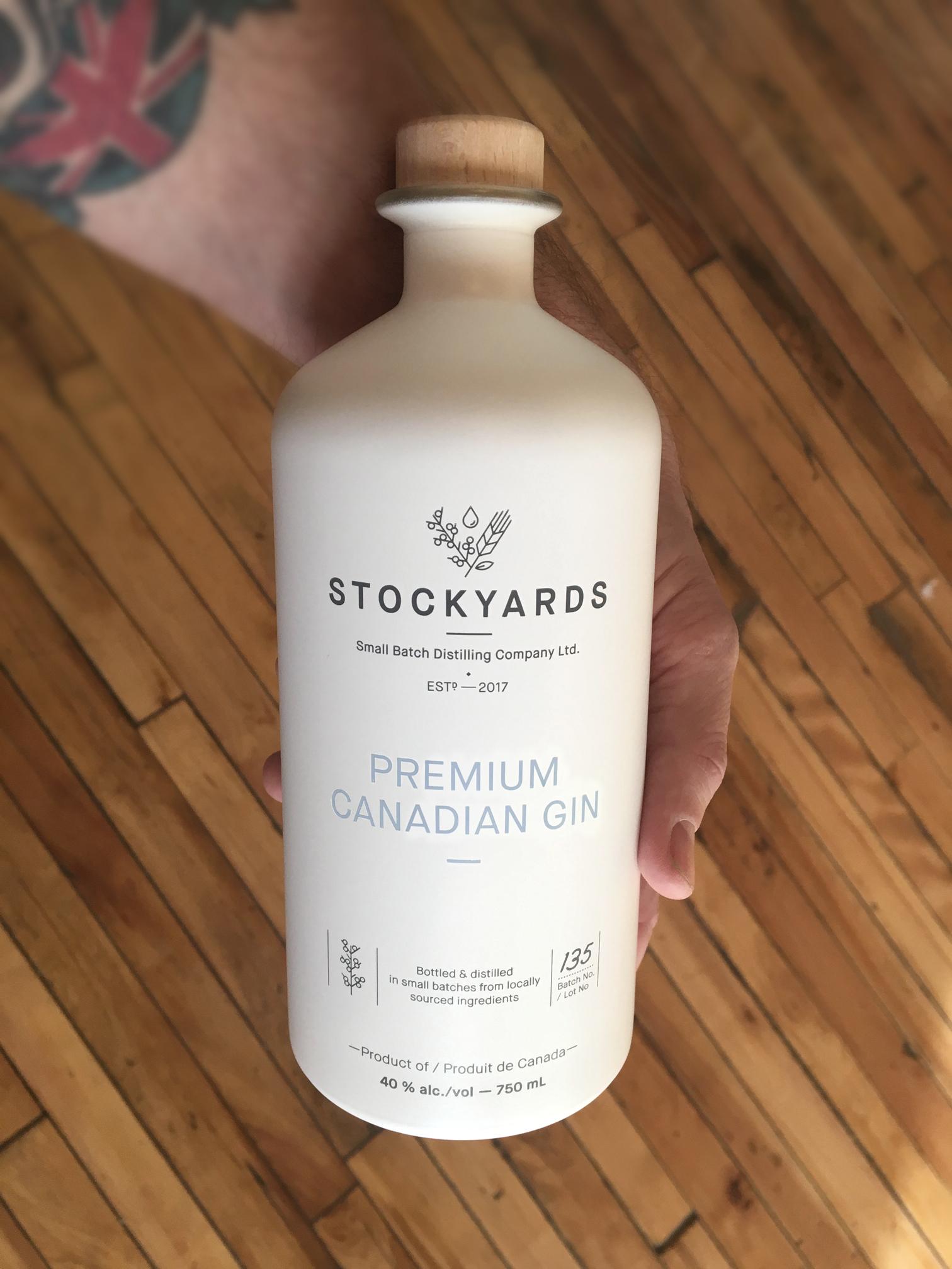 holding stockyards gin bottle