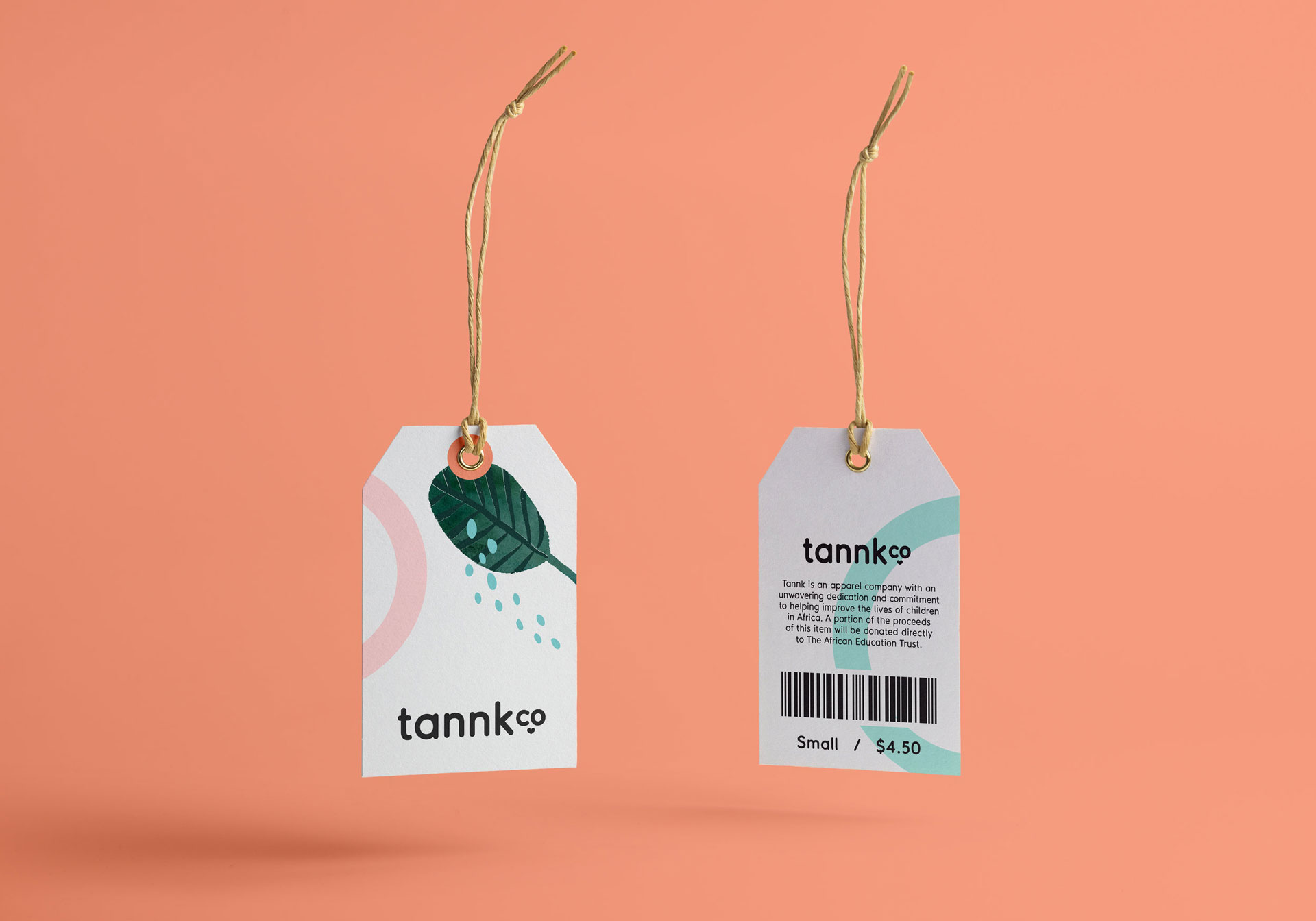 Tannk retail clothing tags design