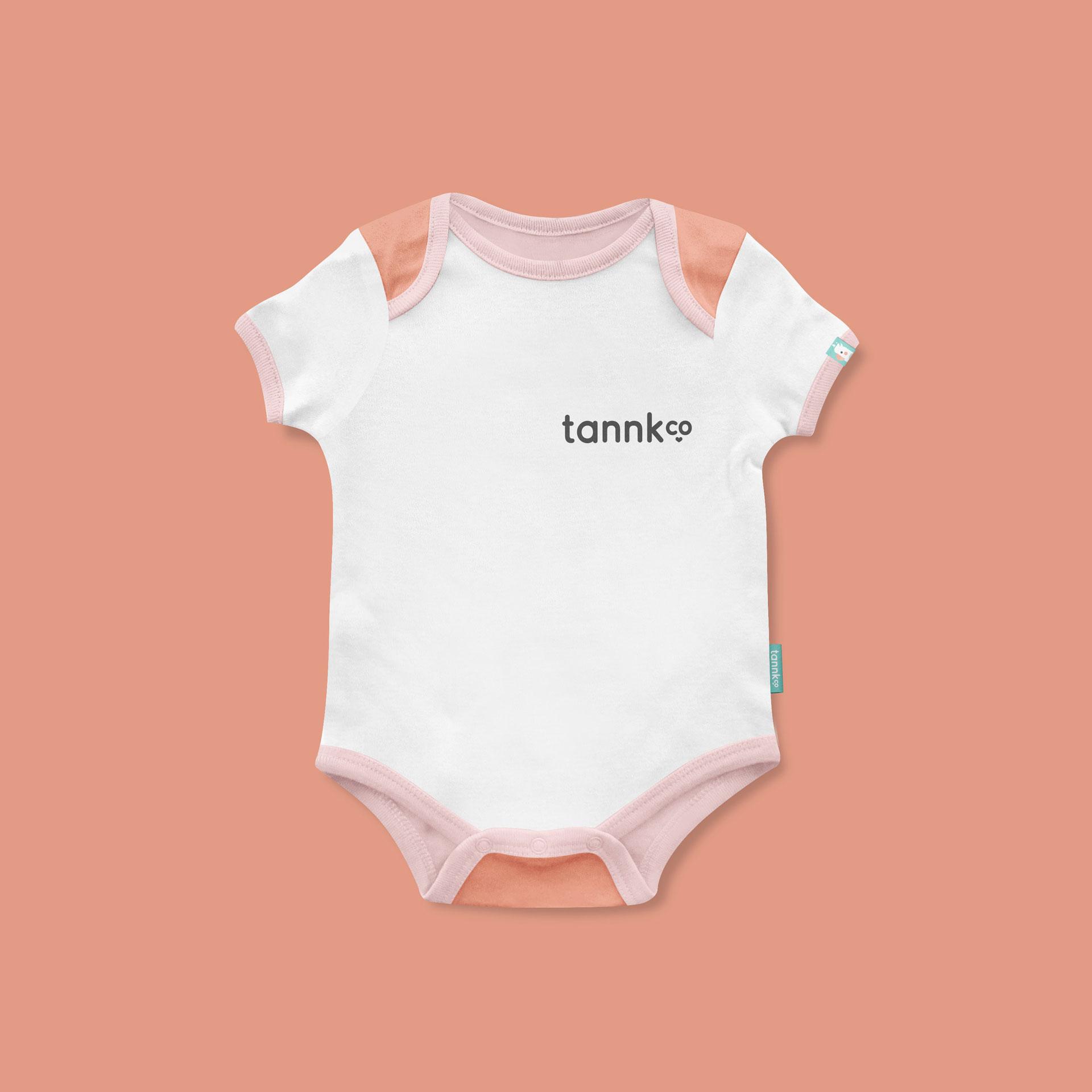 Tannk baby onesie design