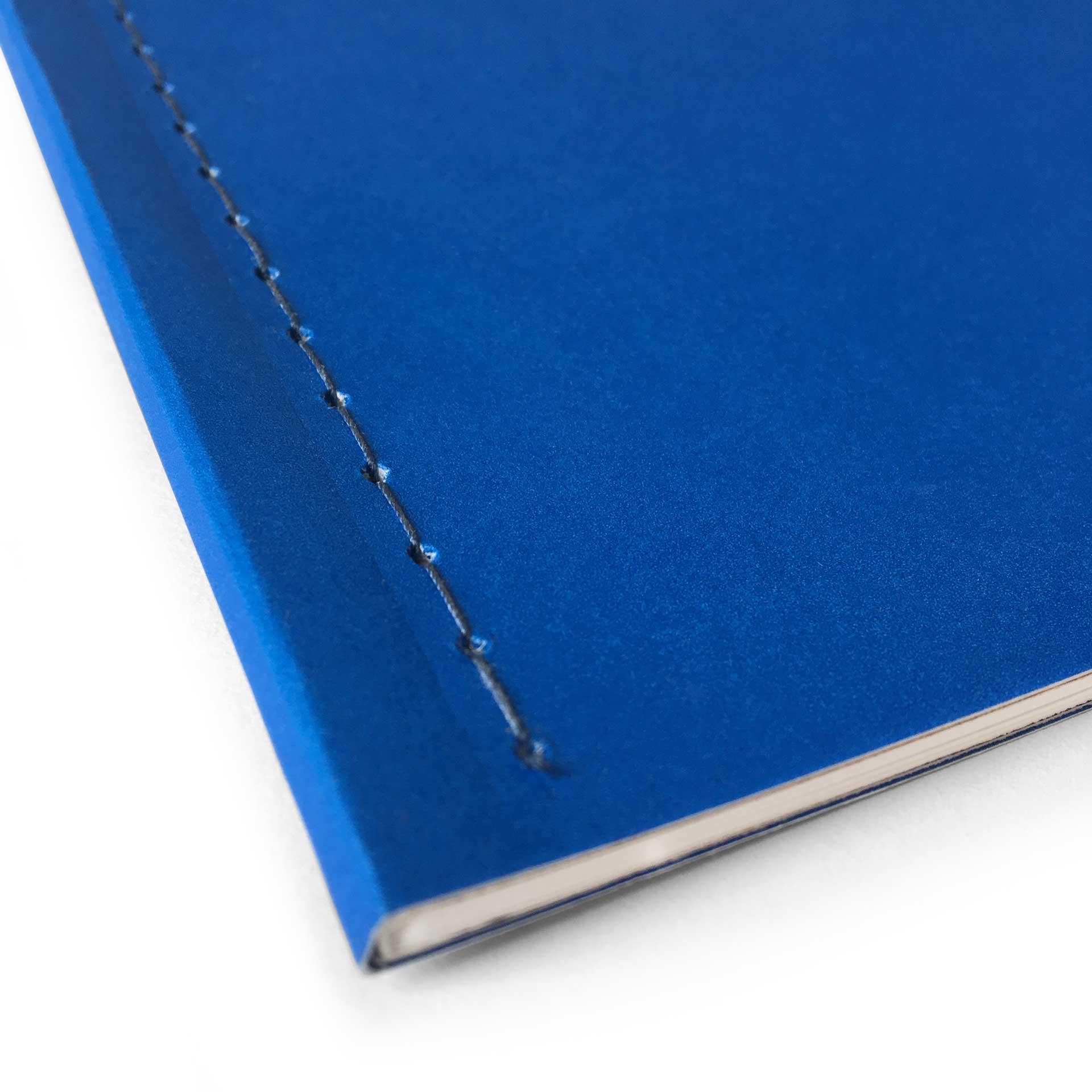close up of Walper Hotel book cover stitching